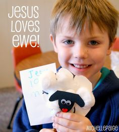 Sunday School Craft for the Parable of the Lost Sheep= True Love