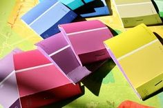 Paint Chip Mini Notepads- great for mini post its for my kids to put in their book boxes