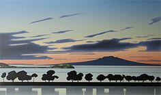 Brian Dahlberg // Shapes of Auckland #Art #Landscape #Oil #Painting #NewZealand
