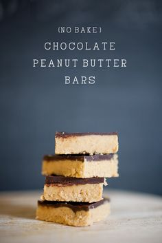 tell love and chocolate: CHOCOLATE: (No bake) Chocolate Peanut Butter Bars