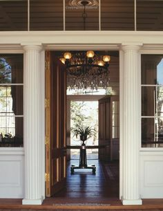 Entry hall in a southern home.