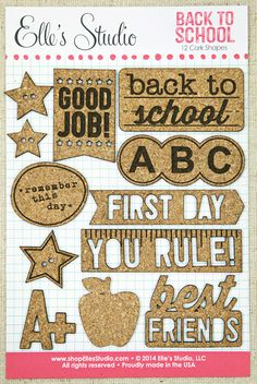 Back To School Cork Shapes by Elle's Studio