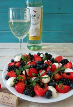 Caprese Fruit Salad