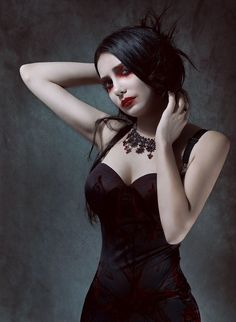 #Goth girl evening look