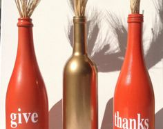thanksgiving wine bottles - Google Search