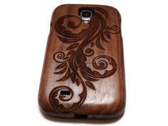 Samsung Galaxy S4 case wooden cases walnut / by CreativeUseofTech