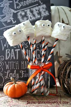 Love this simple idea for mummy marshmallows!