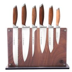 Schmidt Brothers Cutlery Schmidt Bros® Bonded Teak 7 pc. Downtown Block Starter Set