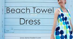 Really cute idea...great blog! cover up, beach dresses, beaches, sewing machines, dress tutorials, beach towel, towel dress, towels, craft ideas
