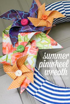summer pinwheel wreath ♥
