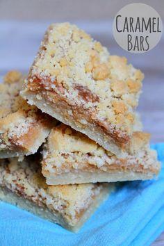Caramel Crumble Bars #recipe - RecipeGirl.com