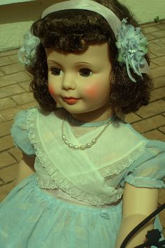 """1960's 36""""Patti Playpal by Madigan's Dolls. Either my sister or I had a PattyPlay Pal doll because I distintinctly remember referring to it when I was a kid."""