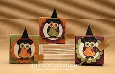 Halloween Witch Owl party favor boxes.