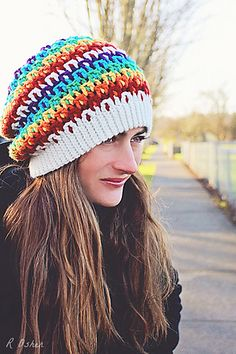 Ravelry: Prism Slouch pattern by Danyel Pink crochet hat, danyel pink, happi hooker, slouch pattern, knit hat