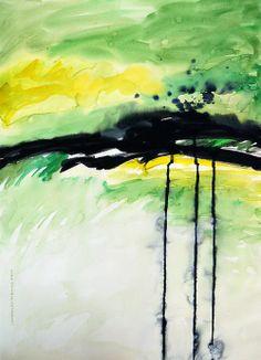 """Dreaming At Dawn"" Watercolor By Lynda Hoffman-Snodgrass"