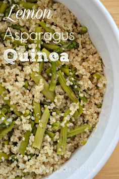 Lemon Asparagus Quinoa Recipe. A simple clean eating recipe for a great side new dish. LuvaBargain.com