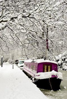 ~Snowy Day, #Oxford, England~