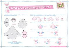 Dedoche de Coelho de Feltro (molde e PAP) by BoniFrati ® bonifrati.com.br, via Flickr