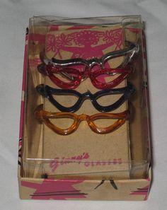Ltd Doll Stamp & 1950's Vogue Ginny Sunglasses MIB 4 Pair Lot# G4