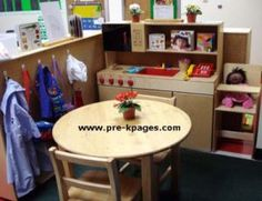 Great ideas and printables to help transform the dramatic play center in the preschool classroom