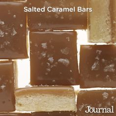 Sea salt adds the finishing delicious touch to these already amazing-looking caramel bars. Repin for your holiday baking! (Salted Caramel Bars) http://www.lhj.com/recipes/dessert/cookies/7-creative-holiday-cookies/?page=5