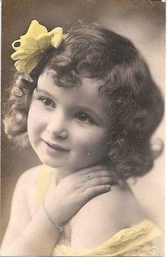 Vintage Postcard ~ Little Girl
