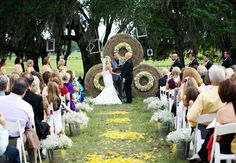 Rustic Ceremony // Photo: Roohi Photography // Event Planner: Alchemy Hour Designs // Venue: Barrington Hill