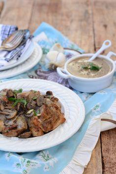 Baked Garlic Mushroom Chicken by PaleoFoodieKitchen.com on AgainstAllGrain.com #paleo
