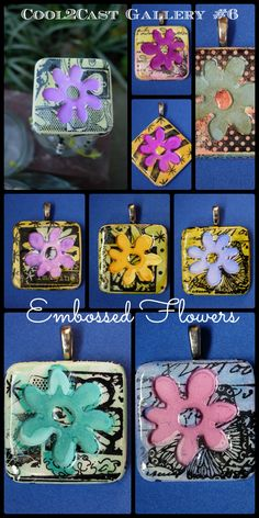 Cool2Cast Photo Gallery #6 - Embossed Flowers #diycrafts