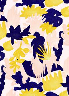 Elsa Boch/sweet/jaune New Patterns Yum.