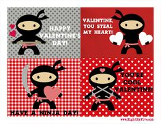 Printable Ninja Valentines (and More!) - Happiness is Homemade