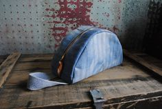 dopp kit / toiletry travel bag   natural indigo dyed by SquidWhaleDesigns, $120.00