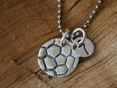Soccer Ball Necklace with Number-soccer ball necklace