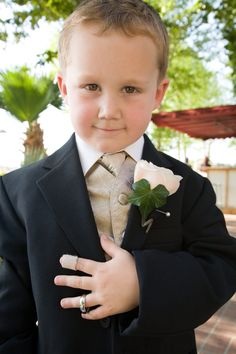 The Ring Bearer and his Ring....too cute!