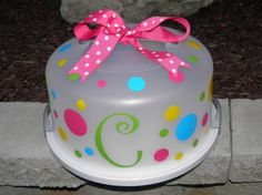 Cute - it looks like you buy the kit on Etsy to design your own cake carrier. Love it!