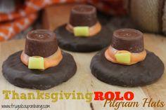 Rolo Pilgram Hat Cookie Recipe – Thanksgiving Food Craft #Recipe #Pilgram #Thanksgiving #RachaelRay http://www.frugalcouponliving.com/2013/11/05/rolo-pilgram-hat-cookie-recipe-thanksgiving-food-craft/
