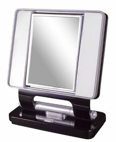 Amazon.com: Ottlite Natural Daylight Makeup Mirror 5x/1x Magnification 26w Dual Sided- Black: Beauty