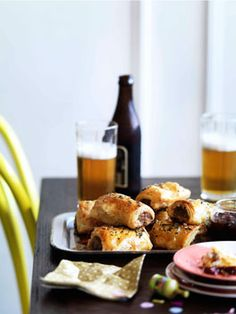 Thomas Corner's Bangalow pork sausage rolls with caramelised apple and thyme.