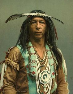 American Indian People | Printing history - A photochrome portrait of a native American histori, peopl, nativ american, native american indians, american history, native americans, vintage photographs, arrow, ojibwa brave