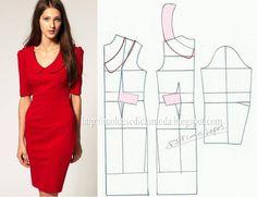 Modelagem de vestido. Fonte: https://www.facebook.com/photo.php?fbid=680183398677268=a.262773027084976.75978.143734568988823=1