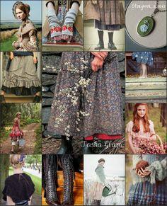 Tasha Tudor inspired fashion.