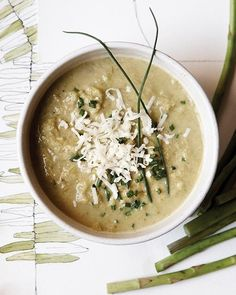 Roasted Asparagus and Gruyere Soup