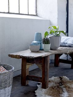 Bloomingville SS13 decor, wood tabl, wooden benches, interior, plant pots, master bedrooms, homes, sweet home, bloomingvill
