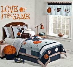Sports Basketball LOVE of the GAME Wall Art Decor Decal. $17.99, via Etsy.