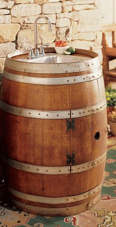 Wine Barrel Wet Bar