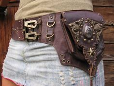 the genesis leather belt hip bag by JungleTribe on Etsy