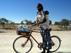 Sustainable bike shop in Okalongo, Namibia: Their relative isolation makes it extremely difficult to transport medical supplies, hold steady employment or even attend school.