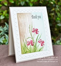Stampin' Up ideas and supplies from Vicky at Crafting Clare's Paper Moments: Framed Tulips - or any other flowers!