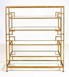 gold leaf shelves