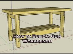 [HD] HOW-TO Build a Simple Workbench for $25 / Gunsmithing / Reloading - fast forward to 2.50 - basic structure but easy to put together.